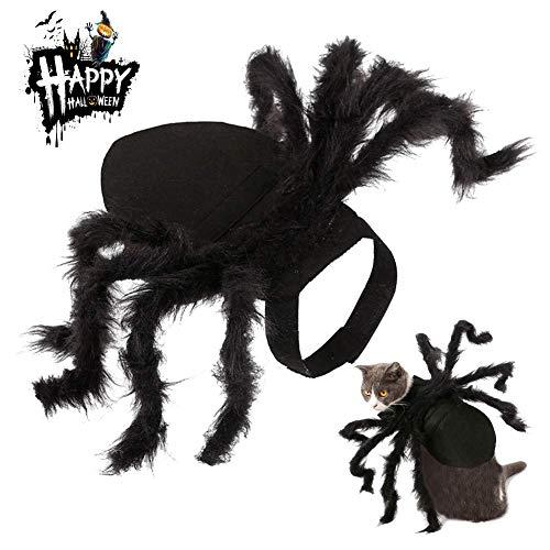 VYNOPA Halloween Cosplay Kostüme for Cat Dog, Cute Pet Spider Kleidung Festival Dekoration for lustige Party Kostümzubehör (Color : - Spider Dog Kostüm Für Große Hunde