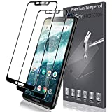 LK [2 Pack for Moto One Screen Protector [Full Coverage], Tempered Glass [Lifetime Replacements Warranty] Screen Protector for Motorola Moto One - Black