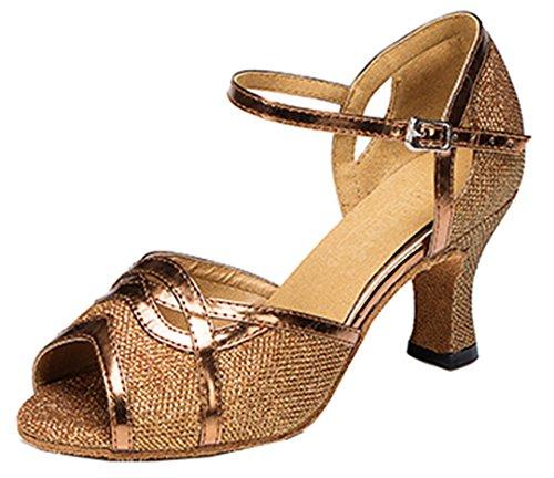 TDA , Damen Tanzschuhe Bronze