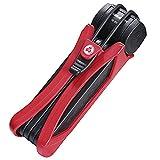 Trelock Faltschloss Trigo FS 300/85 mit Kunststoffhalter, Rot