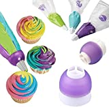 MMRM 3 Color Icing Piping Cake Cream Pastry Bag Nozzle Converter Decorating Tool