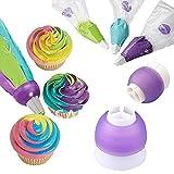 MMRM 3 Farbe Icing Piping Kuchen Gebäck-Beutel-Düse Konverter Werkzeug verziert