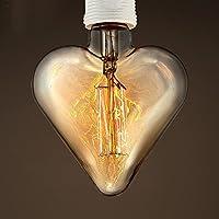 kinine A forma di cuore amore 40W E27 Edison lampadina bar e ristorante vestiti memorizzare sorgente luminosa a decorazione tungsteno filamento lampadina E27 - Cuore Bar