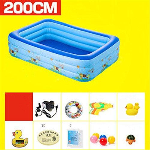 Verdicken umweltfreundliche PVC Baby Kinder schwimmen gefaltet aufblasbare quadratische Familie Pool Ball Pool 200*150*60cm geeignet für über 3 Jahre alt