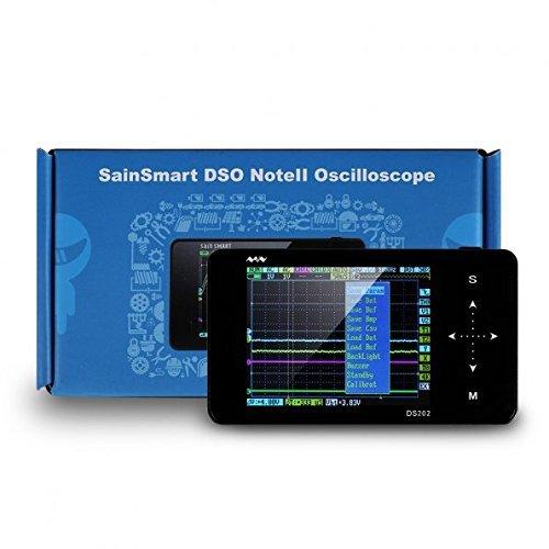 SainSmart 2015 NUEVO Nano ARM DS202 pantalla portátil Mini Handheld Touch Osciloscopio de almacenamiento digital, 8 MB de memoria de almacenamiento de 2 MHz 10Mps