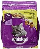 Whiskas Katzenfutter Trockenfutter Adult für Katzen ab 7 + Jahre mit Huhn flavor, 800 g