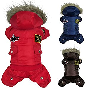 Winter-Dog-Coat-Jacket-Usa-Air-Force-Pet-Hoody-Clothes-For-Small-Warm-Puppy-Medium-Pet-4-Pin-Jumpsuit-Hooded-Air-Force-Trench-Snowsuit-Sweatshirts-Doggie-Apparel-Outfits-Red-Windproof-Coats