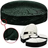 Model & Size Choice Fabric Garden Furniture Day Bed Sun Beds Sofa Lounge Cover - Round Outdoor Patio Tarpaulin Weather Protection- green 236 x 67cm
