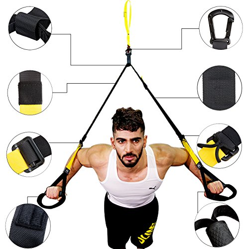 #Profi Schlingentrainer, LinkWitz Suspension Training Home Gym Fitness System for Home, Office, Camp Ground#