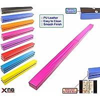 Barra de equilibrio plegable para gimnasia, de cuero sintético para entrenamiento en casa, rosa