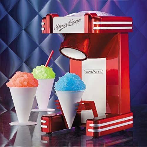 Smart rsm702 macchina per gelato gelatiera tradizionale rosso, bianco