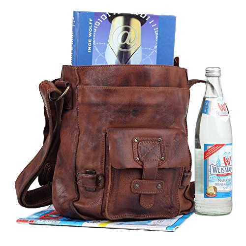 Billy the Kid Panamerica Sac bandoulière cuir 25 cm brown
