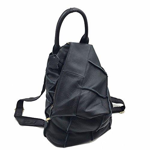 Sheli Unisex Große Geldbörsen und Handtasche Rucksack Anti Diebstahl Taschen Schultertasche für Damen Herren Schwarz