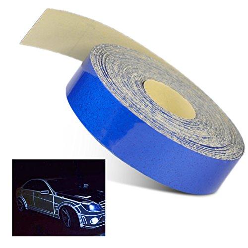 beler Blu 5m x 1 cm Universale Car Body Body Rim rifrangente Autoadesivo Autoadesivo Striscia Adesivo Nastro Adesivo Decalcomania