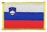 Flaggen Aufnäher Slowenien Fahne Patch + gratis Aufkleber,