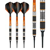 Red Dragon Amberjack 1 Soft Tip Dartpfeile 18g – 90% Tungsten Darts Set (Steel Dartpfeile) mit Flights & Schäfte