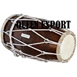 Sai Musical Solid Wood Rope Tuned Wedding Dholki with Bag - A Musical Instrument