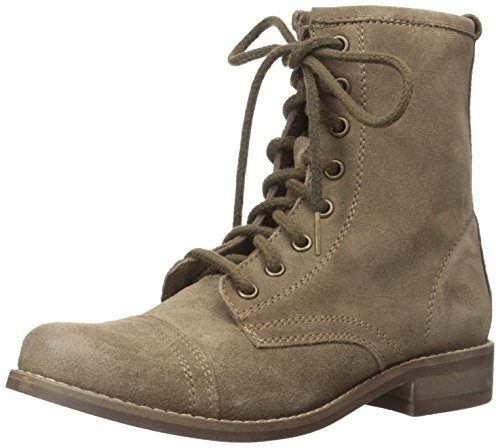 Steve Madden Charrie Combat Boot Taupe Suede