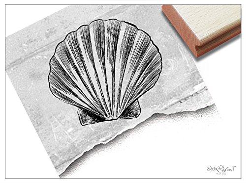 Stempel - Motivstempel Muschel - Bildstempel für Kita Schule Hobby Beruf, Karten Briefe Geschenke Basteln Kunst Deko - von zAcheR-fineT