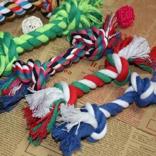 shopofpengpeng Hundetier Toy Cotton geflochten Bone Rope Zähne Clean Tug kauen Knoten Kiddin