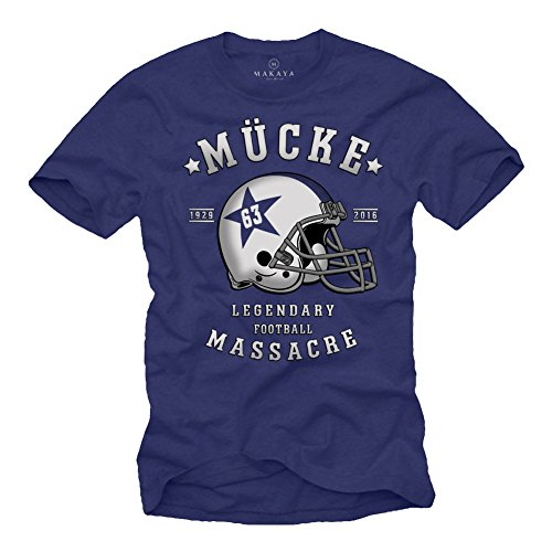 Mücke 63 - Herren T-Shirt - Football Helm Spencer Tracy XXXXL -