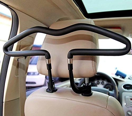 Preisvergleich Produktbild Business Autokleiderbügel für Kopfstütze Stabiler Kleiderbügel PKW mit Kunstleder Rücksitz Aufhänger Haken Halter