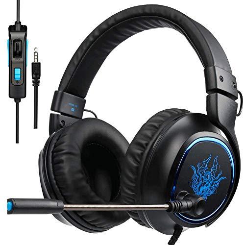 YUNYIN DZCP-Gaming-Headset für Xbox one / PS4 / PC/mit Sound/Mikrofon und Lautstärkeregler/Stereo-Surround/weichem Ohrpolster Comp-video-stereo