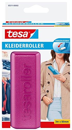 tesa Kleiderroller Vorteilspack, 1 x 3 m x 80 mm, rosa/hellgelb/hellgrau