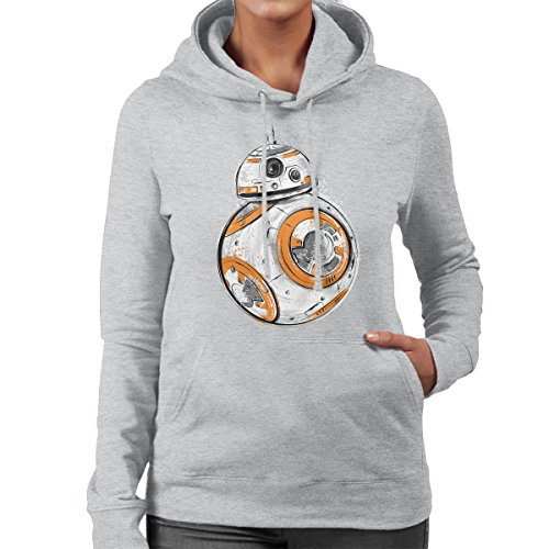 Astromech Droid BB8 Star Wars Women's Hooded Sweatshirt Heather Grey