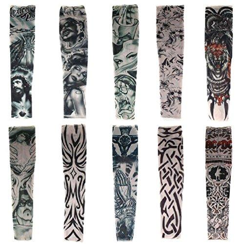 HaimoBurg Juego 10 Mangas Apariencia Tatuaje temporales