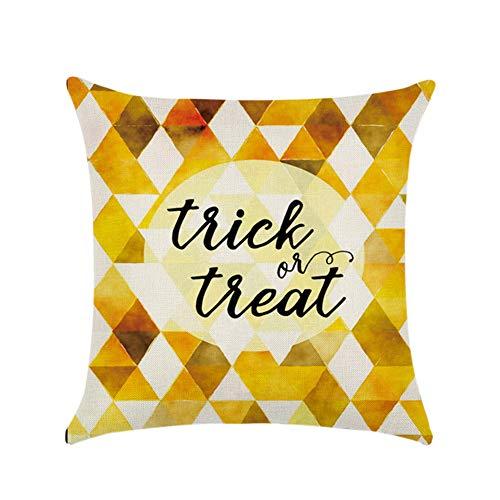 aimdonr Halloween Thriller almohada, calabaza Square almohada, almohada almohada cremallera