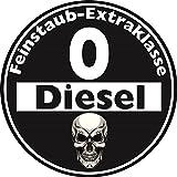 Aufkleber Sticker Feinstaub Umwelt Plakette Diesel Schwarz JDM Tuning Fun Lustig Auto Motorrad LKW für außen 2 Stück! Autoaufkleber Fahrverbot Umweltzone