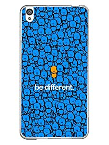 Oppo R9 Cover - Be Different - One in A Million - Designer Printed Hard Case with Transparent Sides