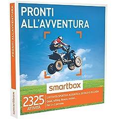 Idea Regalo - smartbox - Cofanetto Regalo - Pronti ALL'AVVENTURA - 2325 esperienze tra Sport Acquatici, attività di Guida o di Volo