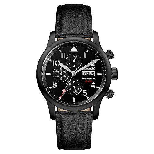 Ingersoll Men's The Hatton Automatic Watch with Black Dial and Black Leather Strap I01402