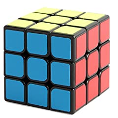 Idea Regalo - New Journey 1 Smooth Speed Puzzle Cube Magic Black -3 x 3 Twist rompicapi IQ Giocattoli per Bambini, 3 x 3GLOSSY