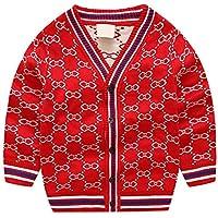 Kinder Mercerized Cotton Cardigan Sweater, Boy Casual Streifen Pullover für Frühling und Herbst