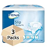 TENA Slip Active Fit Maxi (PE Backed) - Large - Fallschoner - 3 Packs von 22