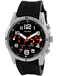 Maxima Analog-Digital Black Dial Men's Watch - 38070PPAN