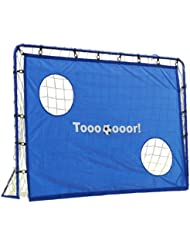 Hudora - 76896 - Jeu de Plein Air et Sport - But de Football avec Cibles - 213 x 152 x 76 cm - 25 mm Diamètre du Tube