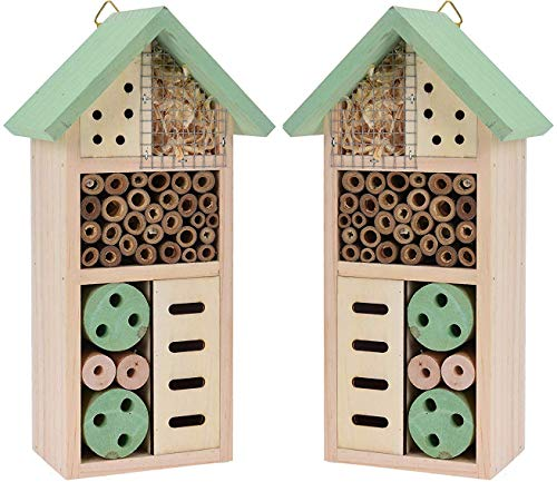 Heritage Fix su legno insetto verde hotel Nest Home Bee Keeping Bug Garden coccinella box hotel