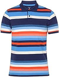 Gant Men's Men's Blue Striped Cotton Polo 100% Cotton