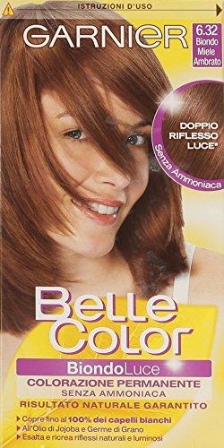 teinture pour les cheveux couleur permanent belle color luce 6,32 blond miel ambrato