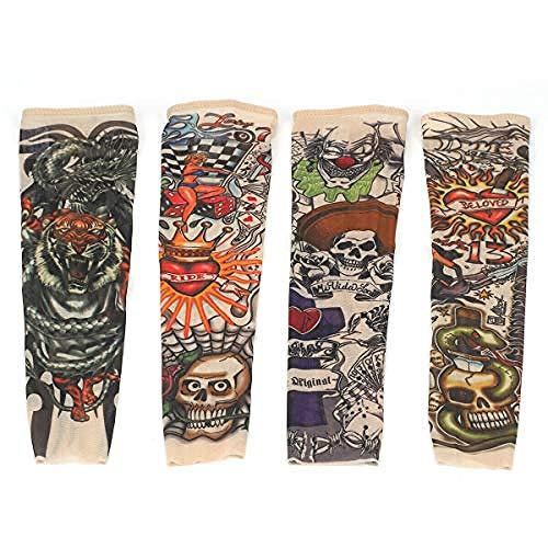 el Arm Tattoo Strumpf 2Pcs Punk Coole Kinderärmel Nylon Tattoo Arm Tätowierung Armstulpen-Kit Arm Sonnenschutz Strümpfe Zubehör Für Unisex (H08) ()