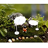 Sellify 5 Set Miniature Dollhouse Fairy Garden Patio Landscape Beach Umbrella DIY S