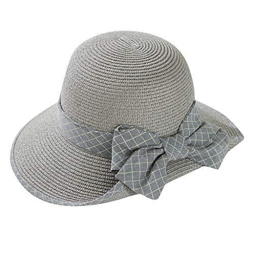 Sonne Mütze Sweet Summer Flowers Dekorative Spitze Hat Stroh Sonnenhut für Frauen Strohhut Elegant Sonnenschutz Hut (Spitze Hüte Dekorative)