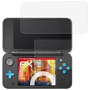 atFoliX Schutzfolie kompatibel mit Nintendo New 2DS XL Folie, entspiegelnde und flexible FX Displayschutzfolie (3er Set)