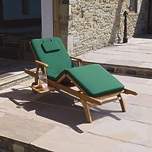 Trueshopping - Almohada para la cama de sol de Amalfi, Verde Oscuro