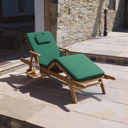 Trueshopping Cuscino di Lusso Verde Scuro per Sdraio Amalfi regolabile (SOLO CUSCINO)