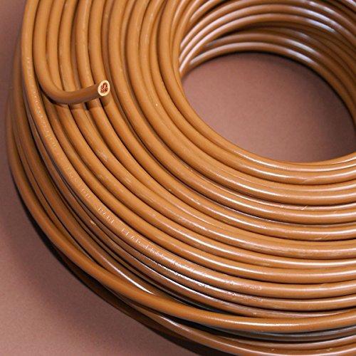 Preisvergleich Produktbild Verdrahtungsleitung H07V-K 10 mm² braun PVC-Einzelader feindrähtig, Cu-blank *Meterware*